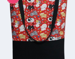 Bolsa Sacola (tote bag) Happy Cats