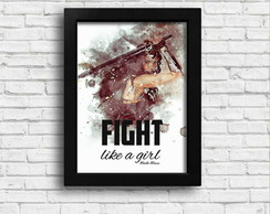 Quadro (Pôster) Fight like a girl (Wonder Woman)
