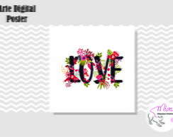 POSTER LOVE FLOWERS