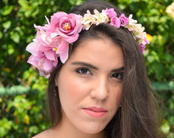 COROA DE FLORES FAIRY PRINCESS