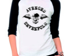 Camiseta Raglan 3/4 Avenged Sevenfold Banda Rock