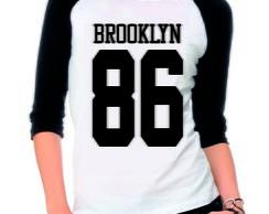 00c551cc3 Camiseta Raglan 3 4 Brooklyn 86 no Elo7
