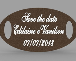 Placa Oval Save the Date