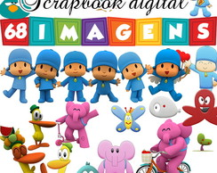 Scrapbook Digital Pocoyo - Kit completo