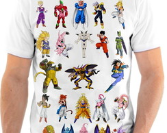 Camiseta Anime Dragon Ball Anime Personagens Cartoon 23