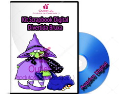 Kit Scrapbook Digital - Divertida Bruxa