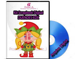 Kit Scrapbook Digital - Duendes XDX