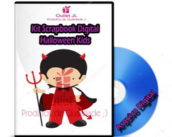 Kit Scrapbook Digital - Halloween Kids