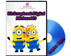 Kit Scrapbook Digital - Minions XD