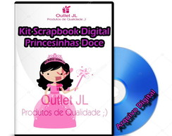 Kit Scrapbook Digital - Princesinha Doce
