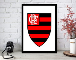 Placas Decorativas Escudo de time Flamengo