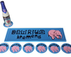 Kit Delirium Bar Mat + 6 Porta Copos