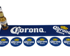 Kit Corona Bar Mat + 6 Porta Copos