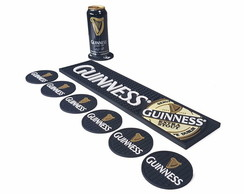 Kit Guinness Bar Mat + 6 Porta Copos