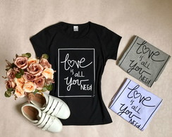 Camiseta Baby Look Love