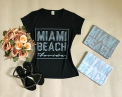 Camiseta Baby Look Miami