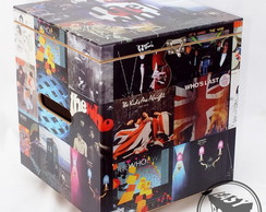 Baú Box Caixa para Vinil LP's com Rodízios The Who