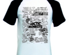 Camiseta Raglan Manga Curta Arctic Monkeys