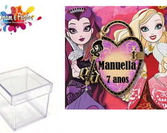 Rótulo Caixa Acrílica 4x4 Ever After High
