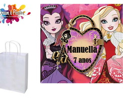 Rótulo Sacola 12x12 Ever After High