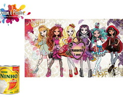 Rótulo de Lata de Leite Ever After High
