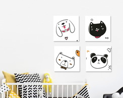Poster decorativo animais cute