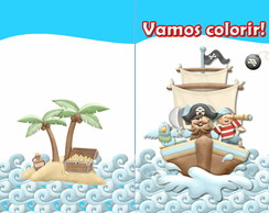 Revista para colorir Pirata 14x10