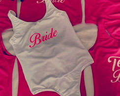 Kit com 19 Bodys personalizado Team Bride Squad