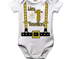 f7101b774a Body Bebe Ou Camiseta Infantil Meu 1 Reveillon Suspensorio