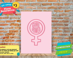 Placa Decorativa - Girl Power - REF0261