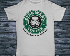 Camisa Camiseta Starbucks Star Wars Coffee