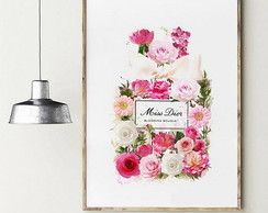 POSTER FLORAL FASHION - ARTE DIGITAL
