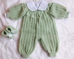 conjunto em tric feito a m o verde no elo7 v lecy tric 60f574. Black Bedroom Furniture Sets. Home Design Ideas