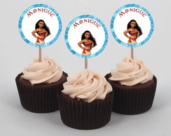 Digital - Topper Cupcake Moana