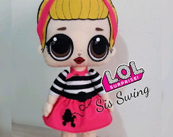 Boneca feltro Sis Swing Lol surprise 47cm