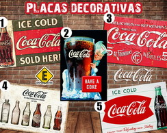 Placas decorativas Coca Cola