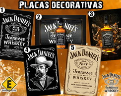 Placas decorativas Jack Daniels