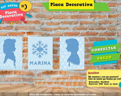 Placa Decorativa - 3 Placas Personalizada Frozen