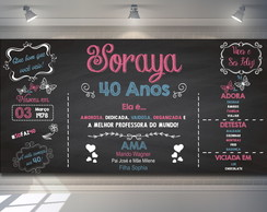 Painel Chalkboard 40 Anos