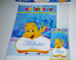 Kit de Colorir linguado pequena sereia