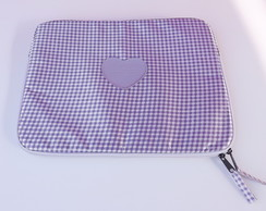 "Case para Notebook 15"" Mini Xadrez Lilás"