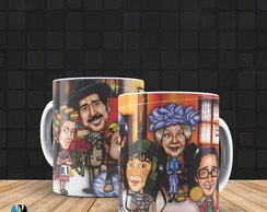Caneca porcelana - Turma do Chaves Cartoon