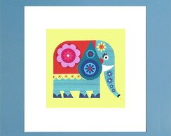 QUADRO DECOR COLOR - ELEFANTE 17