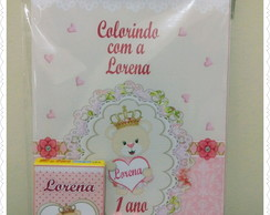 Kit colorir Ursinha Princesa