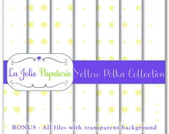 Yellow Polka Collection - Papel Digital