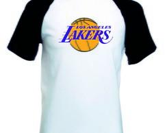 4f816c965 Camiseta Raglan Manga Curta Los Angeles Lakers no Elo7