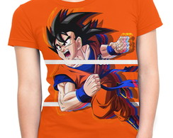 Baby Look Feminina Dragon Ball Goku MD06