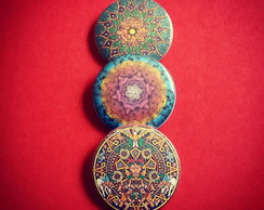 Kit (3) buttons: Mandalas