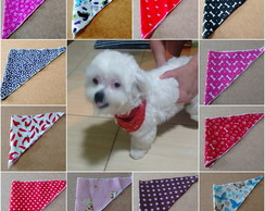 Kit com 10 Lenço Bandanas Pet