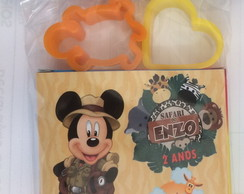 Kit massinha com 2 moldes mickey safari